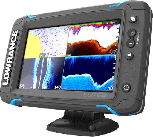 Lowrance Elite 7 Ti Tilted View